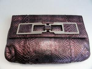 Image is loading Authentic-Anya-Hindmarch-Pipkin-Snakeskin-Clutch-Bag-New- 8f5913f1255c