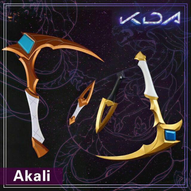 KDA Akali Cosplay Prop PVC Sickle Dagger League of Legends Halloween Weapons New