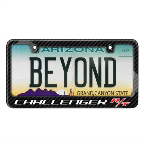 Dodge Challenger R//T Real 3K Black Carbon Fiber License Plate Frame