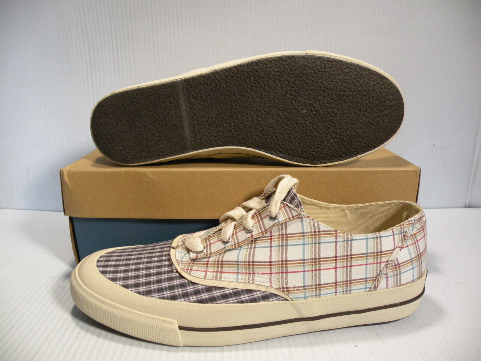 quality design cb0ef 3c96c KEDS TRIUMPH CVO NATURAL MEN SHOES WHITE BLACK MF18695 12 NEW SIZE PLAID  ntronr2683-new shoes
