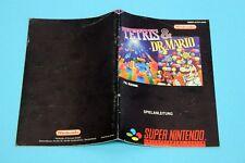 Super Nintendo SNES - Tetris & Dr. Mario - Spielanleitung, Manual, Booklet