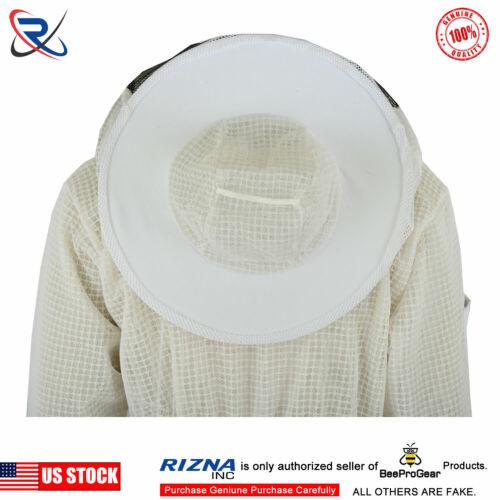 3 Layer Ultra Ventilated bee beekeeper beekeeping jacket  Round Veil 2XL-#BS25
