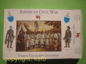 1-32-A-Call-to-Arms-11-US-Buergerkrieg-Union-farbige-Infanterie-Yankees-Figuren