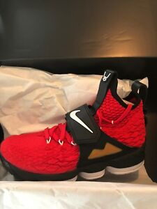 6b7e85e11f Nike Lebron 15 Diamond Turf Red Sz 8 Deion Sanders Lebron James | eBay