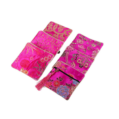 1x Embroidery Jewelry Bag Chinese Classic Gorgeous Embroideries Exotic PoucRDUK