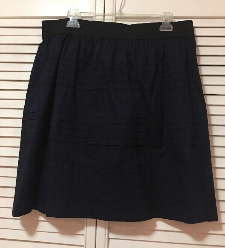 New Without tags INC International Concepts Eyelet Navy Pencil Mini Skirt PLarge