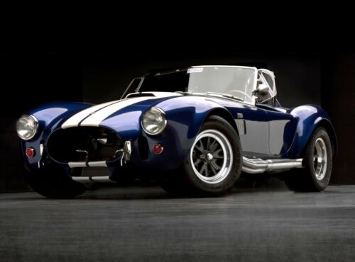 "18"" x 24/"" Giclee AC SHELBY FORD COBRA BLUE 427 RACE CAR ART POSTER PRINT"