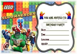 Image Is Loading Lego Marvel Superheroes A5 Children 039 S Party
