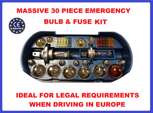 Spare bulb fuse kit headlampindicatortail lighttravel europe bmw image is loading spare bulb fuse kit headlamp indicator tail light publicscrutiny Image collections