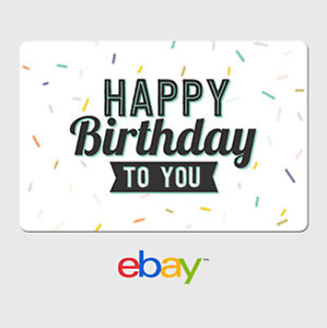 Image Is Loading EBay Digital Gift Card Happy Birthday To You