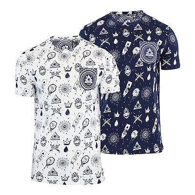 Mens T Shirt Brave Soul Tatiana Illuminati Print Crew Neck Short Sleeve Top