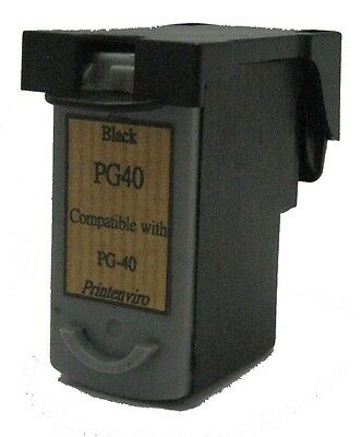 Canon PG-40 PG 40 Black Remanufactured Ink Cartridge MP150 160 170 180 450 MX300