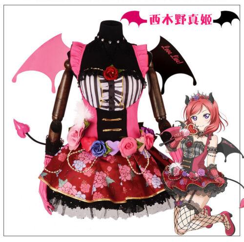 Love live Lovelive Tojo Umi Nico Demon SR Awake Cosplay Costume Set with Wing