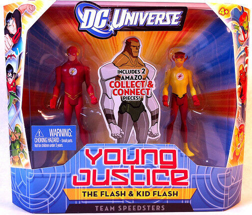 DC UNIVERSO _ YOUNG JUSTICE COLLECTION _ IL FLASH & Kid Flash _ 2 cifra scatola Set _ Nuovo di zecca con scatola