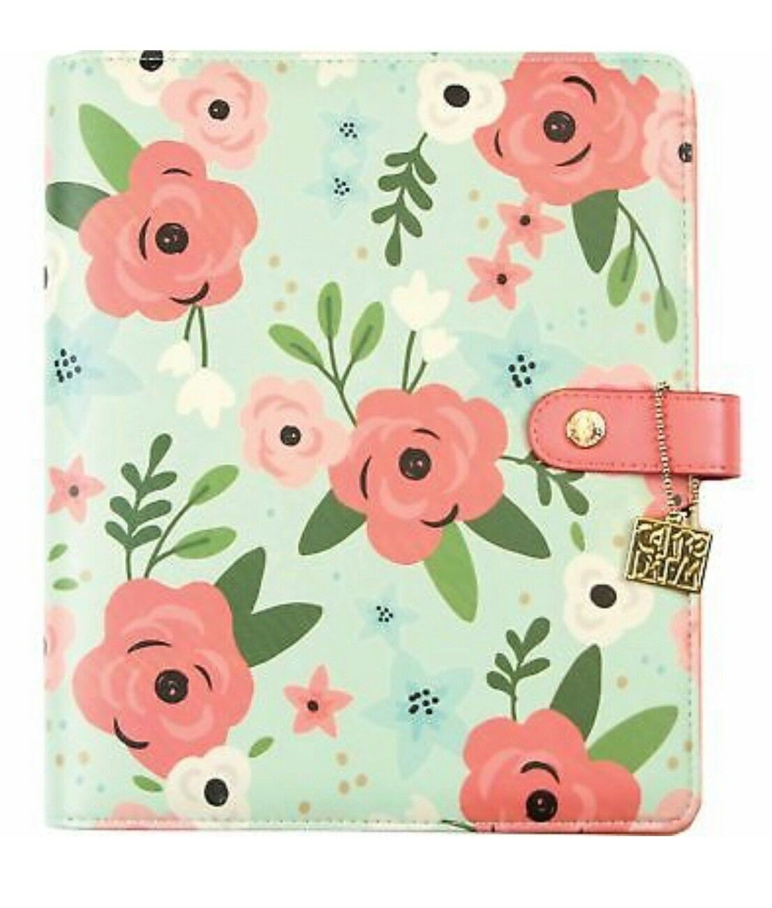 New Carpe Diem A5 Planner floral mint and pink . Condition is New