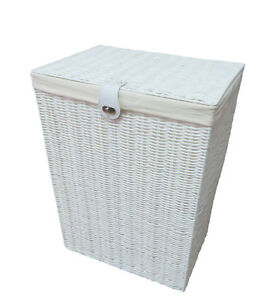 Arpan-Resin-Large-Laundry-Clothes-Basket-with-Lid-Lock-amp-Lining-Storage-White