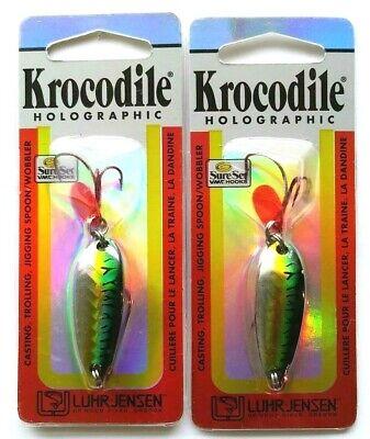 Item M 2 2 Packages Luhr Jensen Holographic Krocodile Rainbow Trout 3//4oz