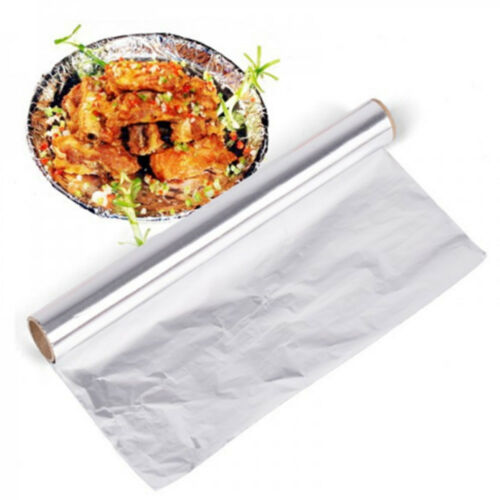 5M Aluminum Foil Baking Barbecue Oven Grill Paper Wrapper Cooking BBQ Tools New