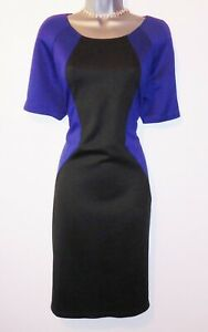 BNWT-AX-Paris-Black-Blue-Illusion-Wiggle-Evening-Occasion-Dress-Multiple-Sizes