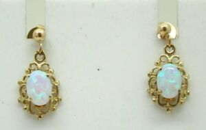 Vintage-Very-Pretty-Pair-Of-9-Carat-Gold-And-Opal-Dropper-Earrings