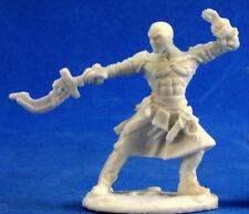 1 x SAJAN MOINE ICONIC  - BONES REAPER figurine miniature jdr rpg d&d monk 89018