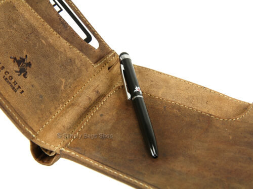 Visconti Leather Travel Wallet With RFID Blocking Fraud Protection /& Stylus Pen