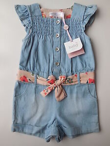 70527cd5f M Co Baby Girl Blue Denim Shortalls Playsuit Size 00 Fits 3-6m NEW ...