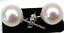 thumbnail 1 - perfect round pair AAA+ 7-8 mm white akoya pearl earring 14k white gold