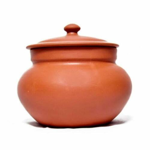 Handmade Clay Handi with lid//Clay Dal Handi//Clay Dahi Handi 1 pc 500 ml