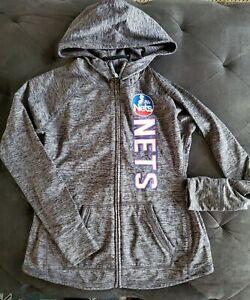 Ladies New Jersey Nets 4Her NBA G-III Full Zip Hoodie Size L