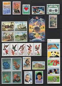 US-1992-NH-Commemorative-Year-2611-23-2630-46-2697-2720-53-Stamps-Free-USA-Ship