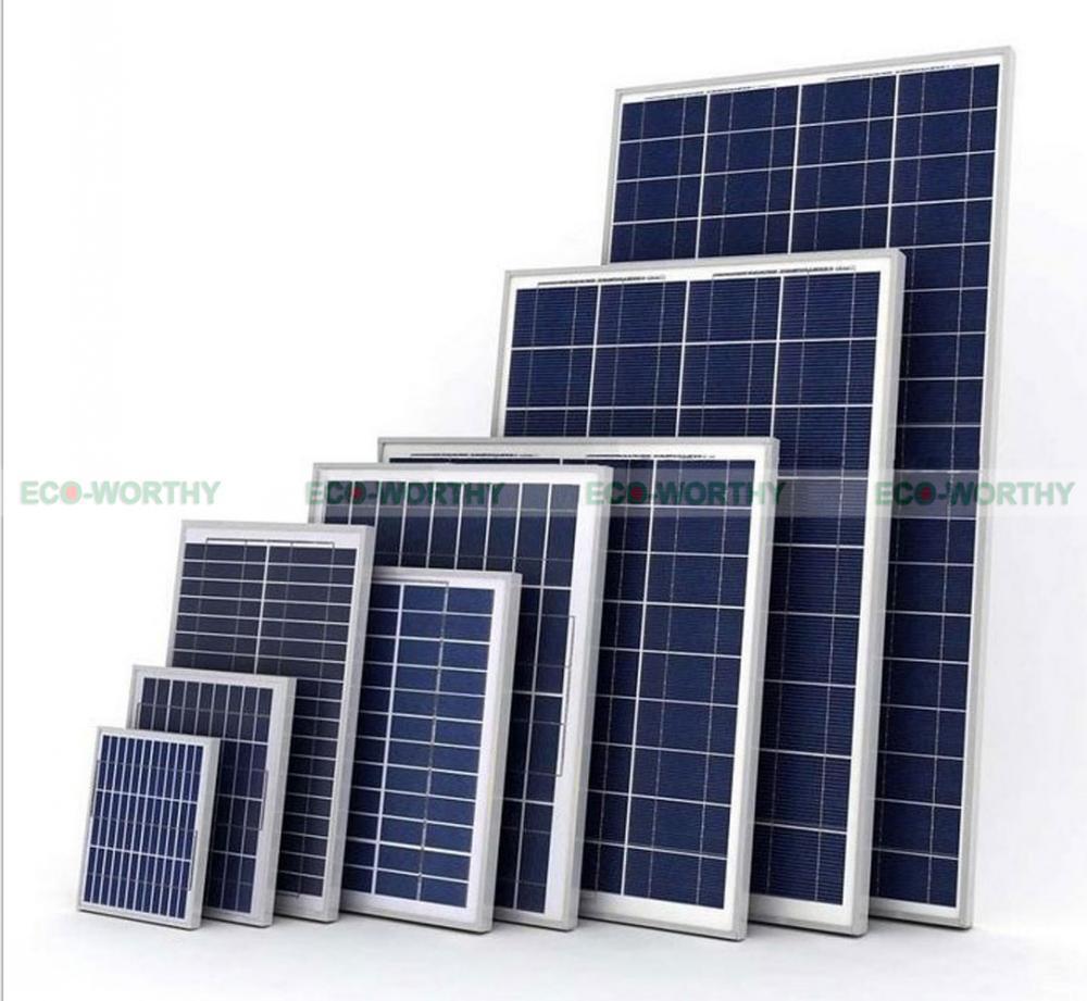 Poly Mono 18V 5W 100W 160W PV Solar Panel Energy Module for Yacht Car Caravan RV