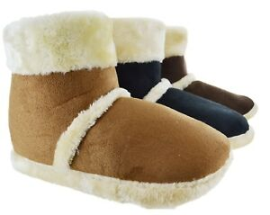 MENS-ANKLE-FLEECE-WARM-WINTER-FUR-LINED-GENTS-INDOOR-NEW-SLIPPERS-SHOES-BOOTS