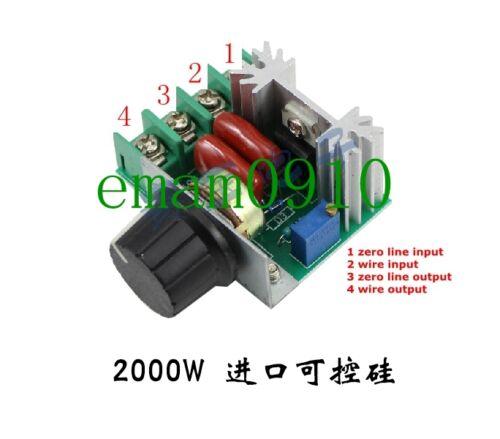 25A 220V 2000W Velocidad Controlador SCR Regulador De Voltaje atenuadores Termostato