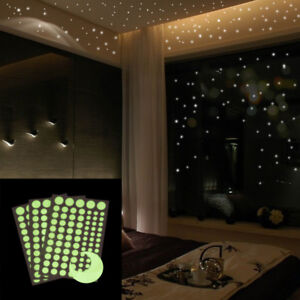 Glow-In-The-Dark-Star-Luminous-Wall-Stickers-Dots-Moon-Sky-Kids-Room-Home-Decor