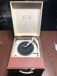 Vintage-Steelman-For-Stereo-Model-405-Portable-Record-Player-For-Parts-Repair