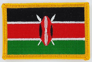 KENYA-KENYAN-FLAG-PATCHES-backpack-PATCH-BADGE-IRON-ON-NEW-EMBROIDERED
