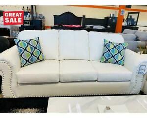 Couch In White Finish Ontario Preview