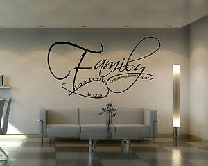 Wall stickers adesivo da parete famiglia family love for Famiglia parete