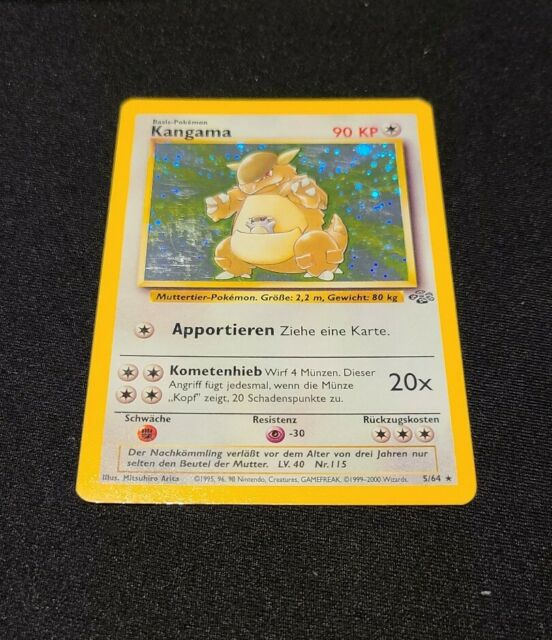 Kangama 5//64 Jungle Set-German Holo Pokemon Card-EX//NM