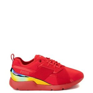 New Womens Puma Muse Athletic Shoe Red
