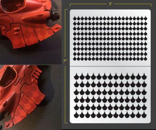 Dragon Scales Airbrush Stencil 1 Texture Patern Schablonen Maskierung Gestaltung