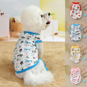Pet-Dog-Cotton-T-shirt-Small-Puppy-Cat-Sleeveless-Printing-Vest-Fashion-Clothes