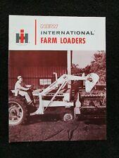 Original 1960s Brochure For International Harvester Farm Tractor Loaders