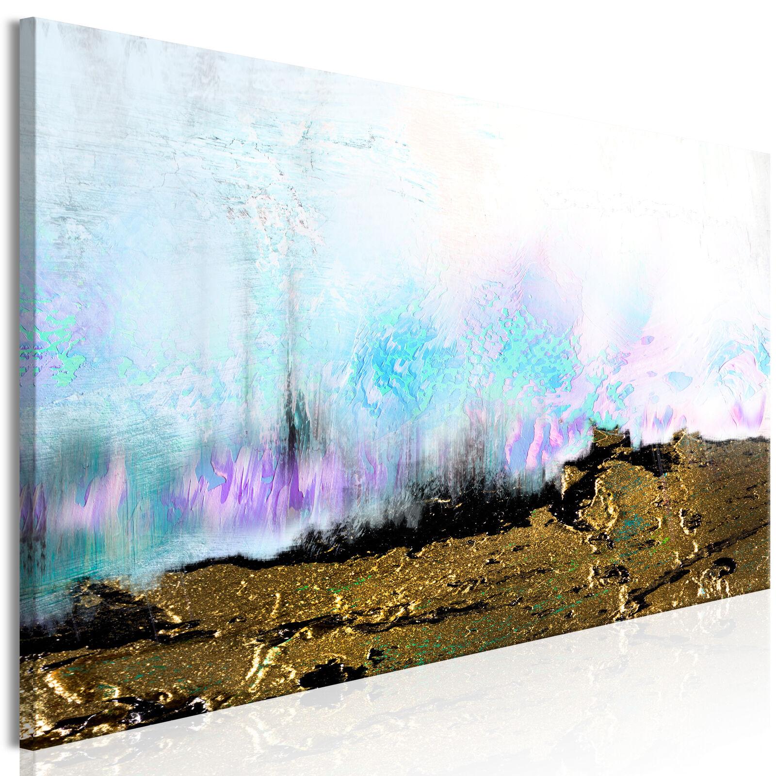 ABSTRAKT BUNT WASSER Wandbilder xxl Bilder Vlies Leinwand a-A-0387-b-a