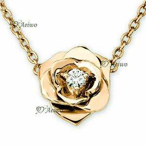 18K-YELLOW-GOLD-GF-MADE-WITH-SWAROVSKI-CRYSTAL-PENDANT-ROSE-FLOWER-NECKLACE