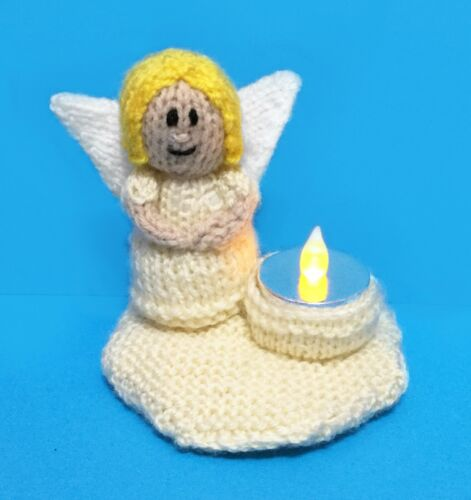 Guardian Angel Tea Light Holder KNITTING PATTERN Great Christmas// Charity