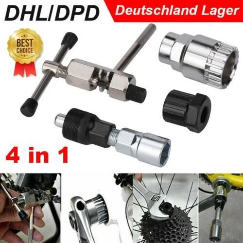 4 in1 Fahrradwerkzeug Reparatur Tretlager und Kurbelabzieher Kurbel-Abzieher Set