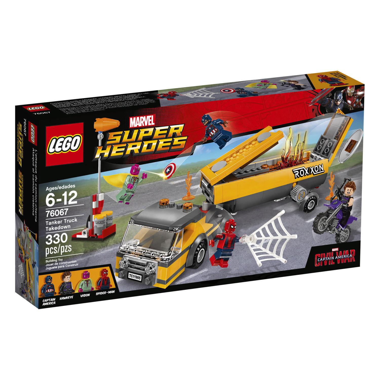 76067 camión cisterna estiraje Lego Nuevo legos Set visión Guerra Civil Vengadores Hawkeye