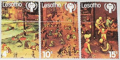 Aus Dem Ausland Importiert Lesotho 1979 278-80 Intl. Year Of The Child Jahr Des Kindes Paintings Games Mnh